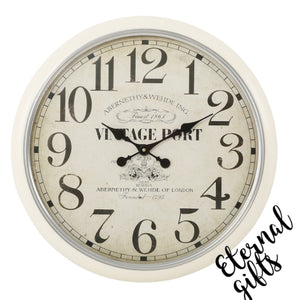 Vintage Port Clock-Mindy Brownes Interiors
