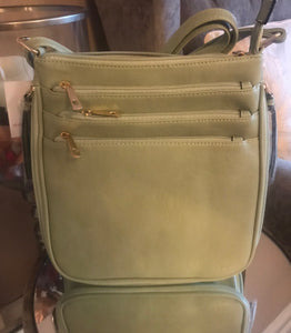 Abbie Crossover Bag In Lime Green