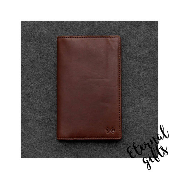 Tudor Italian leather mens traditional wallet by Tumble and Hide Brown