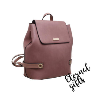 Urban Flap Over Back Pack In Deep Blush