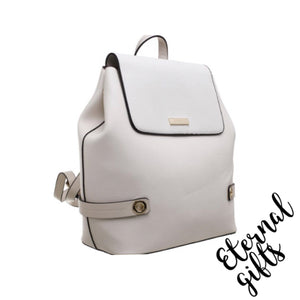Urban Flap Over Back Pack in White