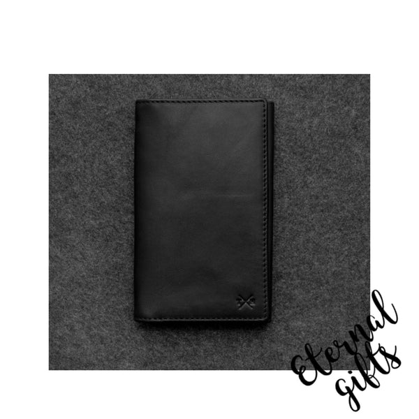 Tudor Italian leather mens traditional wallet by Tumble and Hide Black