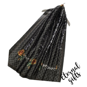 Silk Scarf -'Blind For Love' Black