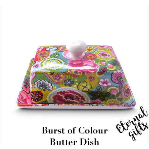 Burst of Colours Butter Dish - Shannonbridge Pottery