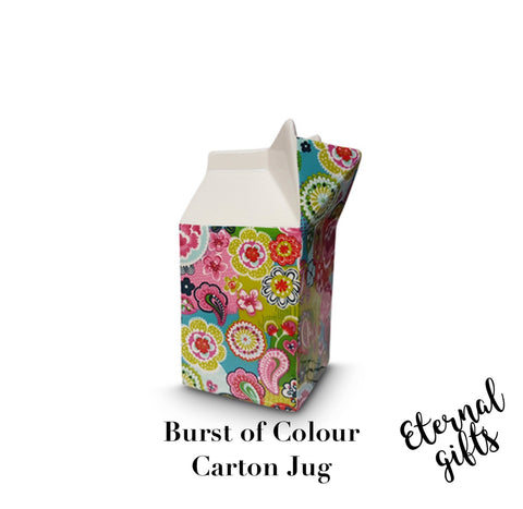 Burst Of Colours Carton Jug - Shannonbridge Pottery