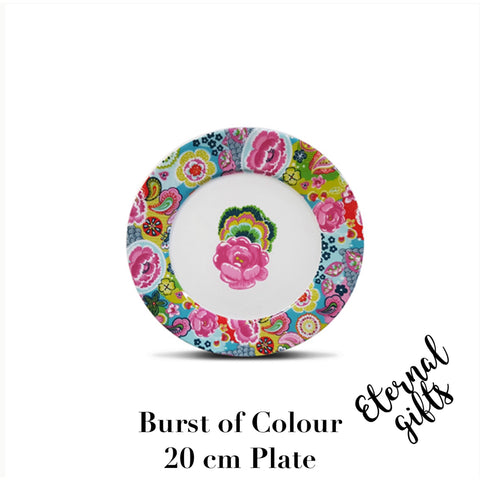 Burst of Colours 20cm Plate - Shannonbridge Pottery