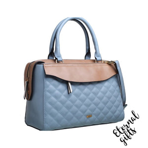 Chanel Inspired Handbag ( Blue & Beige)