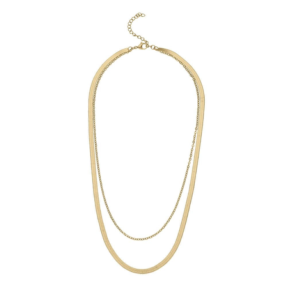 Clara Gold Necklace- Knight and Day Jewellery