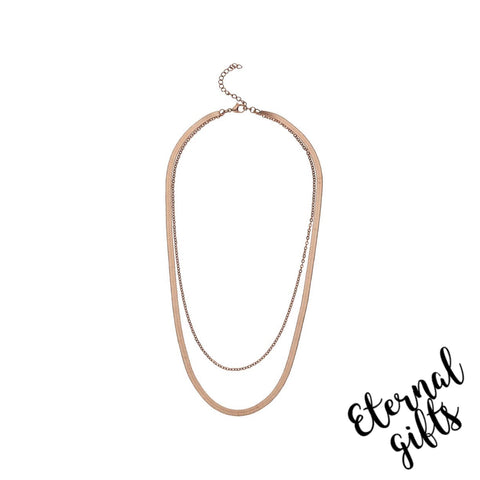 Clara Rose Gold Necklace -Knight and Day Jewellery