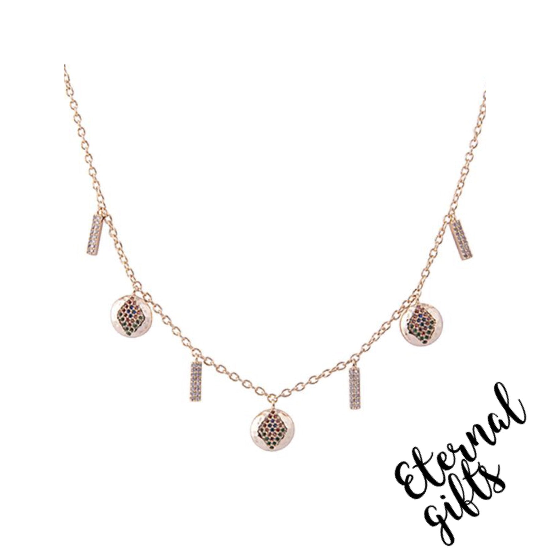 Dalia Multi Drop Necklace _Knight and Day