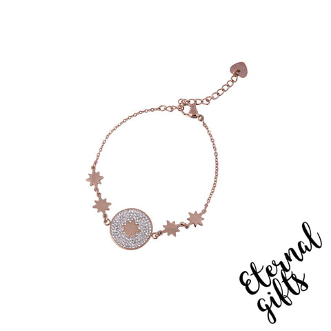 Esme Rose Gold Bracelet- Knight and day Jewellery
