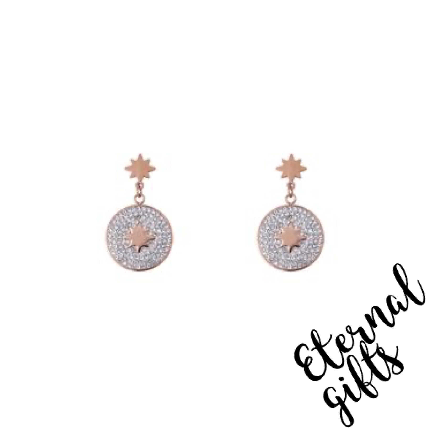 Esme Rose Gold Earrings- Knight and Day Jewellery