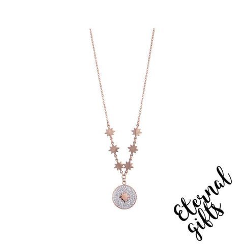 Esme Rose Gold Necklace - Knight and Day Jewellery