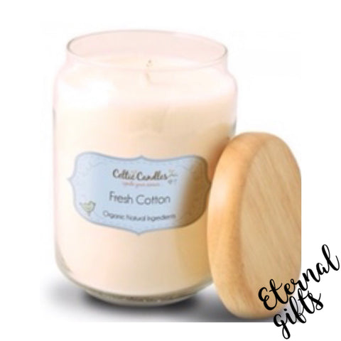 Fresh Cotton- Large Pop Jar- Celtic Candle