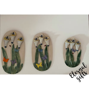Wall Plaques Lily ( in small, medium and large) - Creative Clay