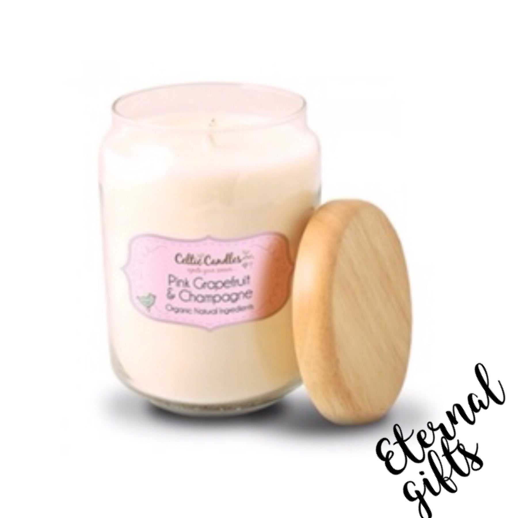 Pink Grapefruit & Champagne- Large Pop Jar- Celtic Candles