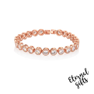 Rose Gold tennis Bracelet - Knight and Day Jewellery