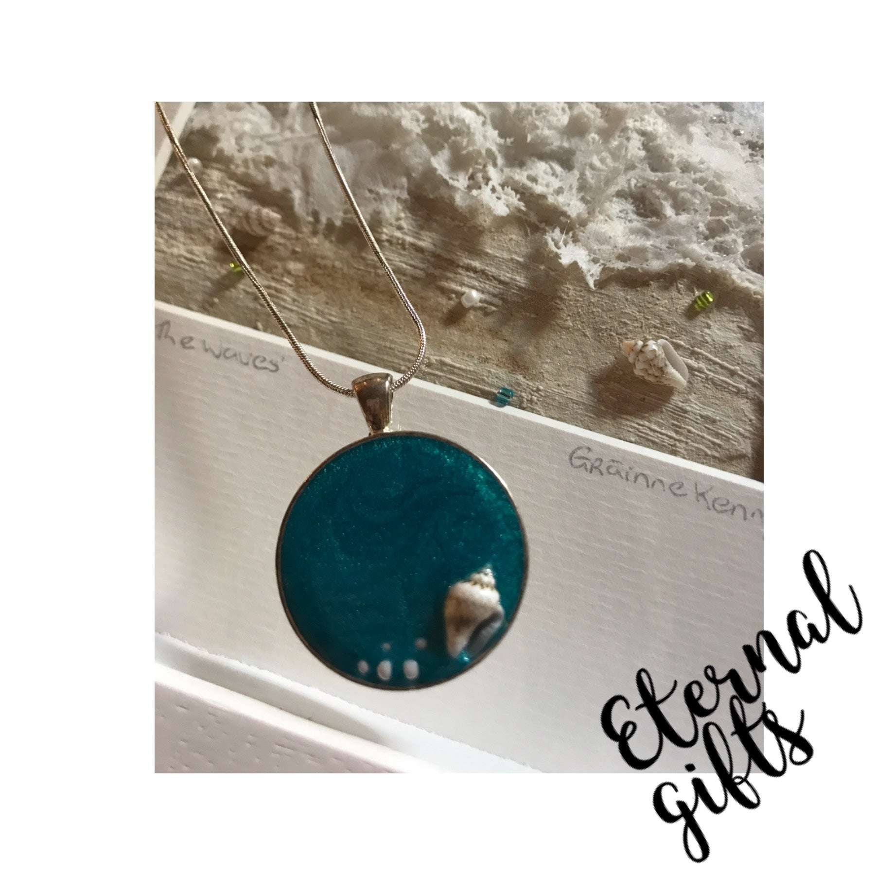 Sea Inspired Jewellery In Turquoise with shell embellishment by Grainne Kenny
