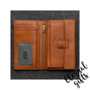 Tudor Italian leather mens traditional wallet by Tumble and Hide Tan