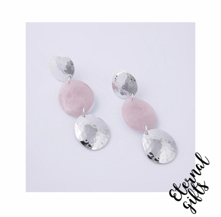 Thea Pink Earrings -Knight and Day