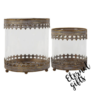 Zoe Lantern  Set/ 2 ( FUZ046) Mindy Brownes Interiors