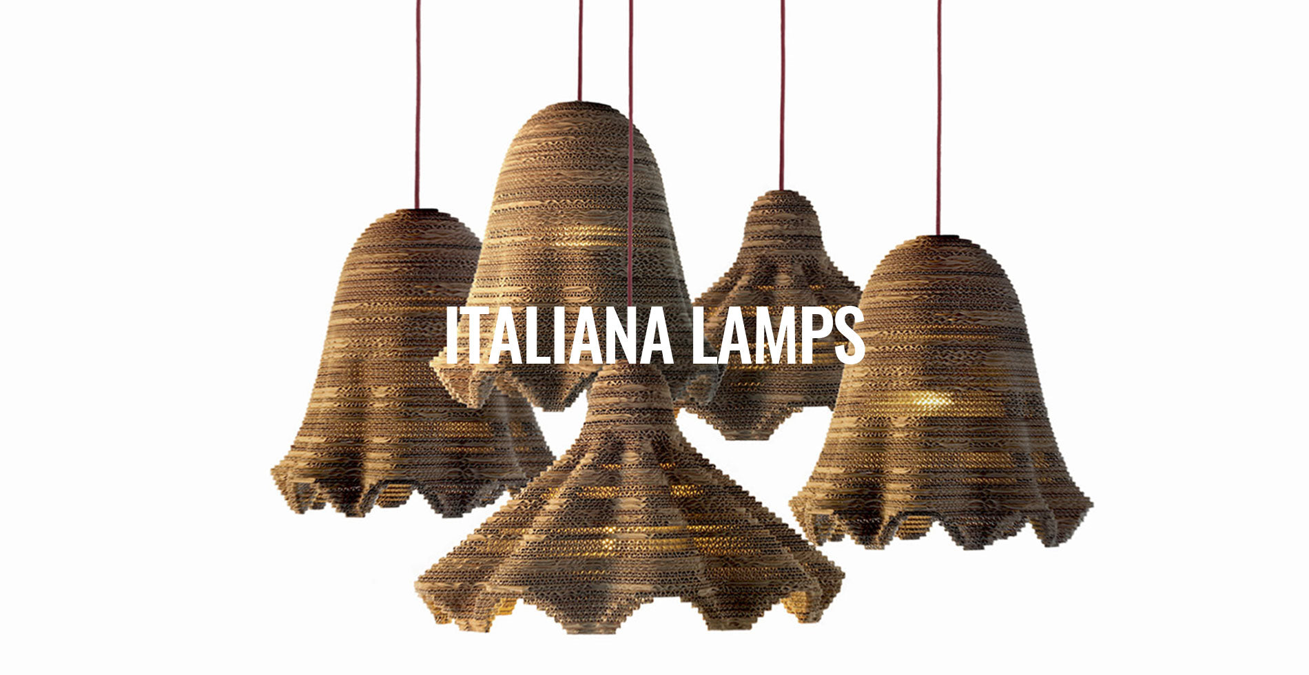 Eetico interior design| Recycled and sustainable cardboard lamps and lighting made in Tuscany, Italy