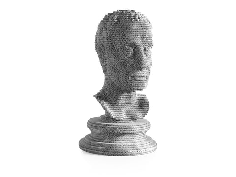 eetico | Giulio C white bust made in recycled cardboard - sustainable design made in Italy