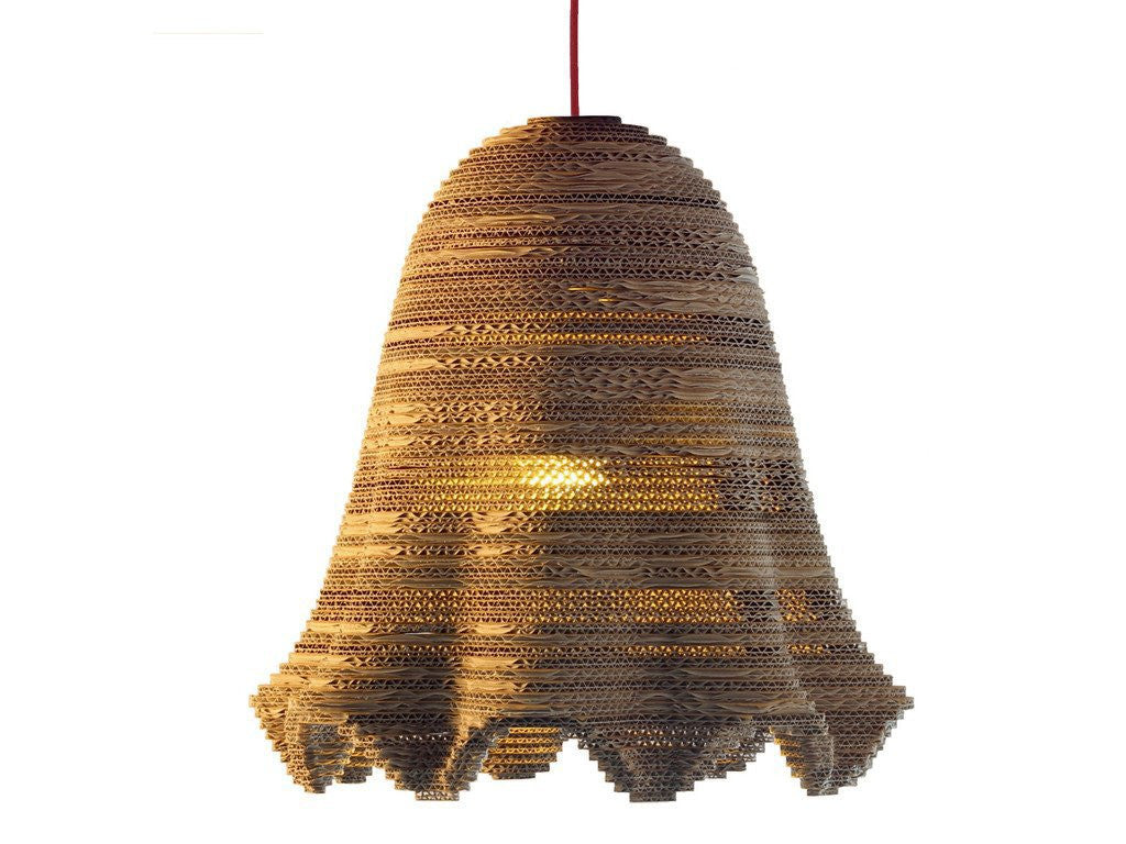eetico | ITALIANA 44 pendant lamp. Recycled cardboard hand-assembled lamp made in Italy