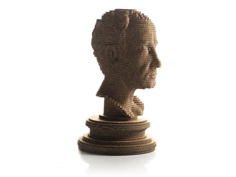 eetico | Giulio C bust - eco design with recycled cardboard