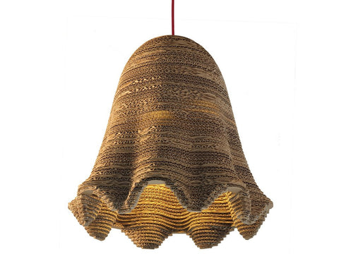 eetico | ITALIANA 44 pendant lamp. Recycled cardboard hand-assembled home decor