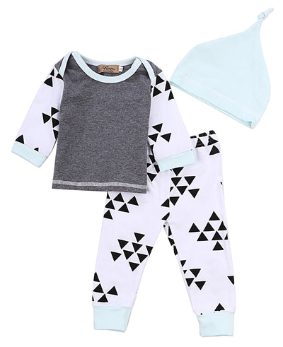 3 PCS Baby Boys Long Sleeve Jogger Set