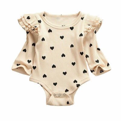Long Sleeve Baby Girl Ruffled Onesie
