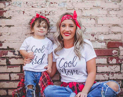 Mommy and Me Cool Mom-Cool Kid Matching Shirts