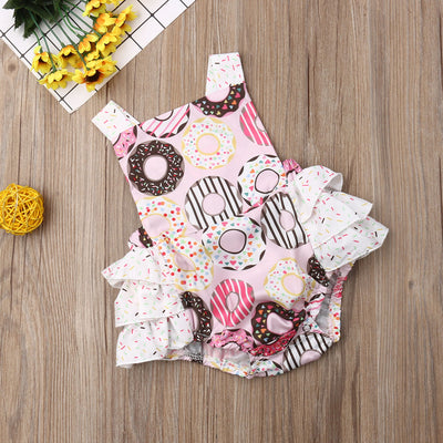 Donut Ruffled Romper One-Piece Outfit