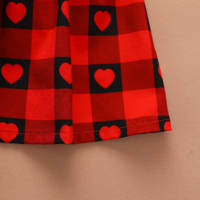 Baby Girls Valentines Day Heart Suspender Skirt