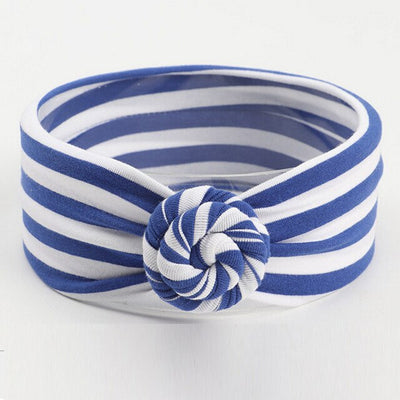 Striped Knotted Head Wrap