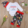 3PCS Baby Boy Superhero in Training Outfit Set