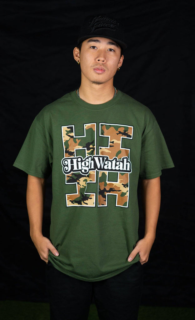CAMO HIGH WATAH T-SHIRT Shirts Hawaii's Finest Small