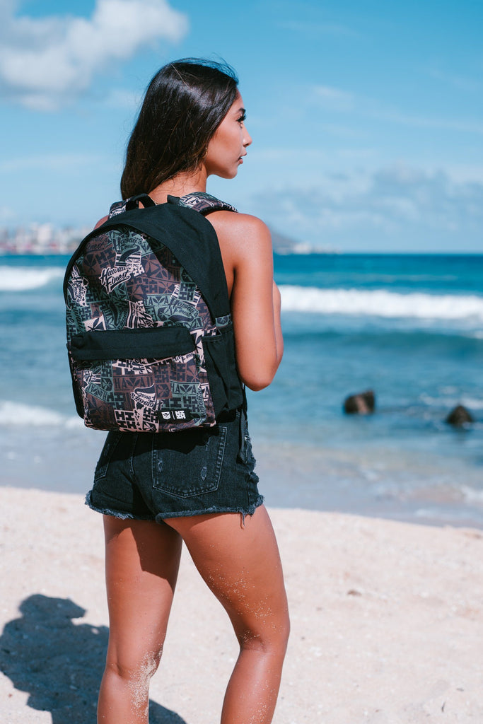 CAMO LOGO BACKPACK Backpack Hawaii's Finest