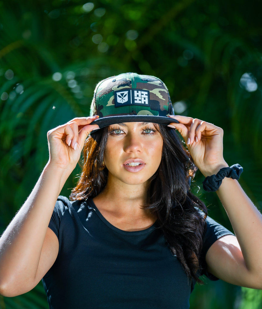 CAMO RUBBER PATCH HAT HAT Hawaii's Finest