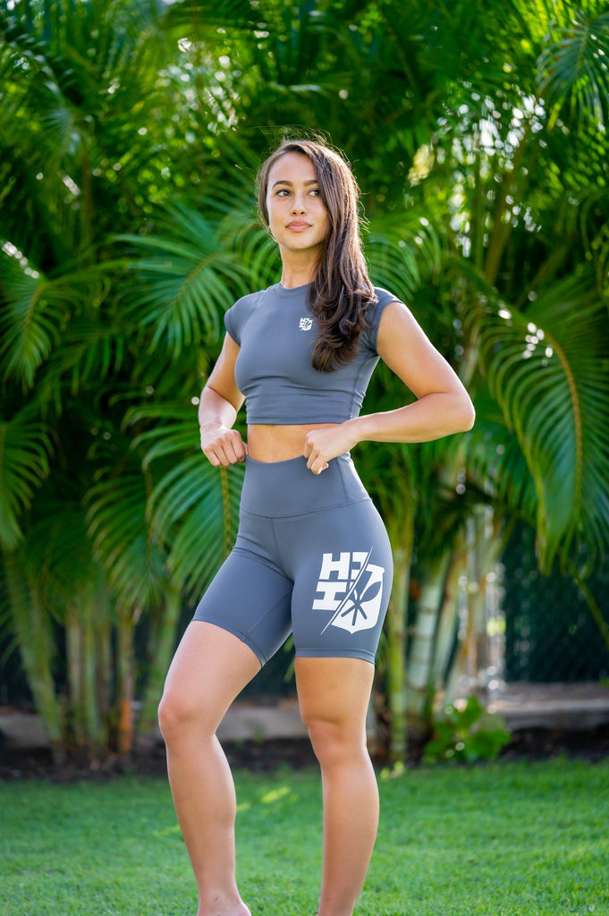 DARK BLUE BIKER SHORTS Activewear Hawaii's Finest X-Small