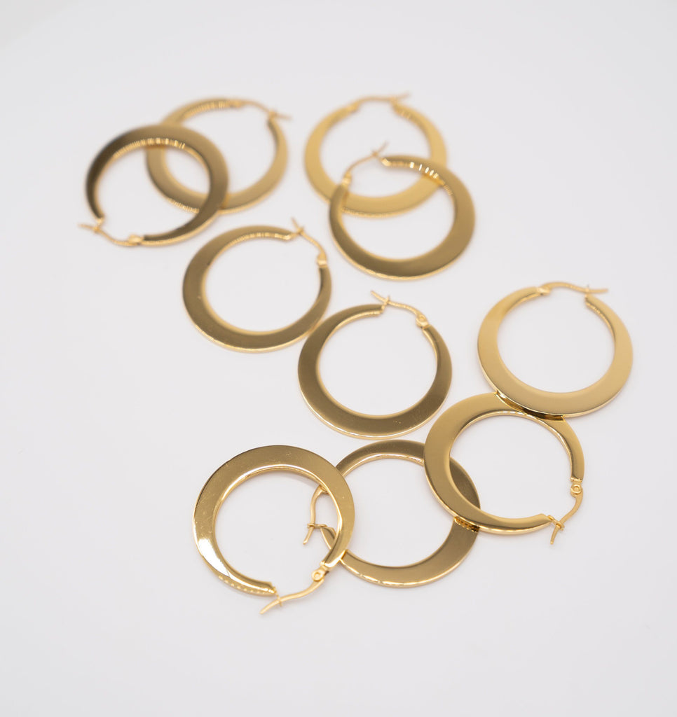 GOLD HOOP EARRINGS HAT Mau Hawaii