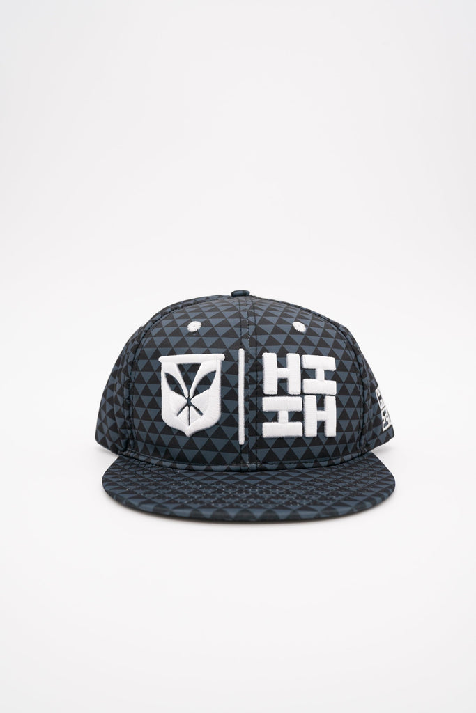 GRAY & BLACK TRIANGLE SIMPLE LOGO HAT HAT Hawaii's Finest