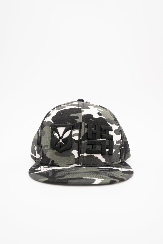 GRAY CAMO SIMPLE LOGO HAT HAT Hawaii's Finest