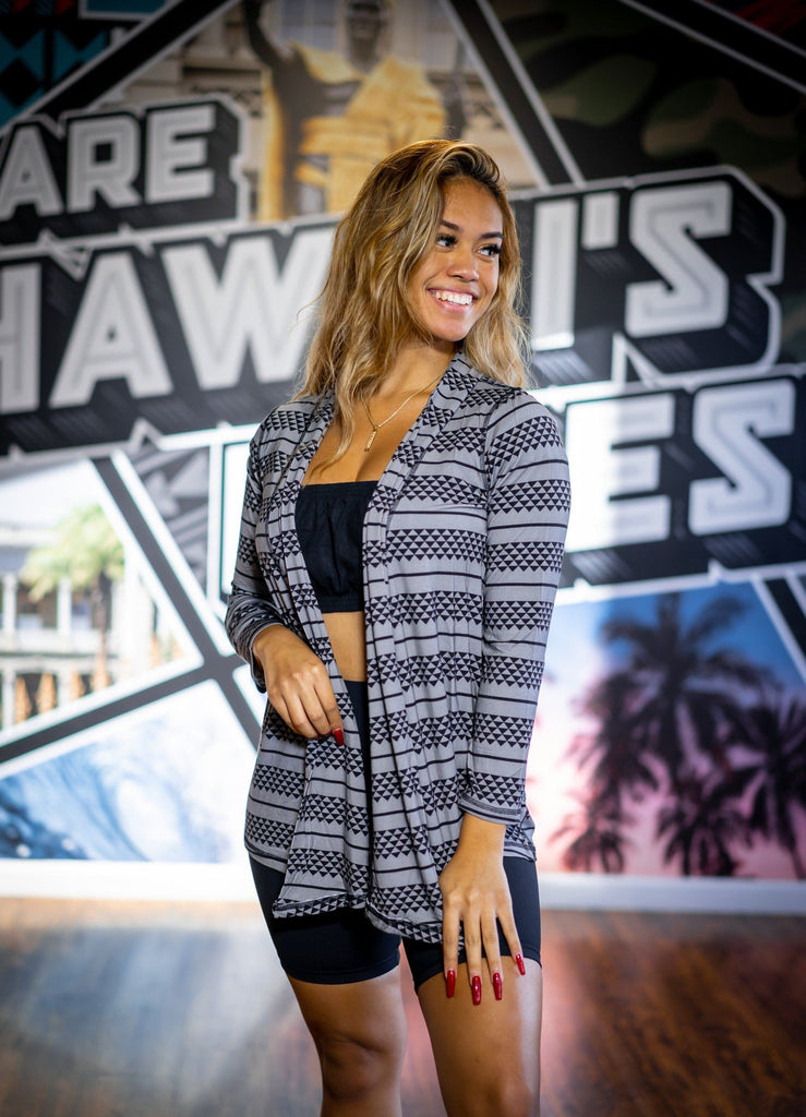 GRAY TRIANGLE MINI COLLECTION CARDIGAN Shirts Hawaii's Finest
