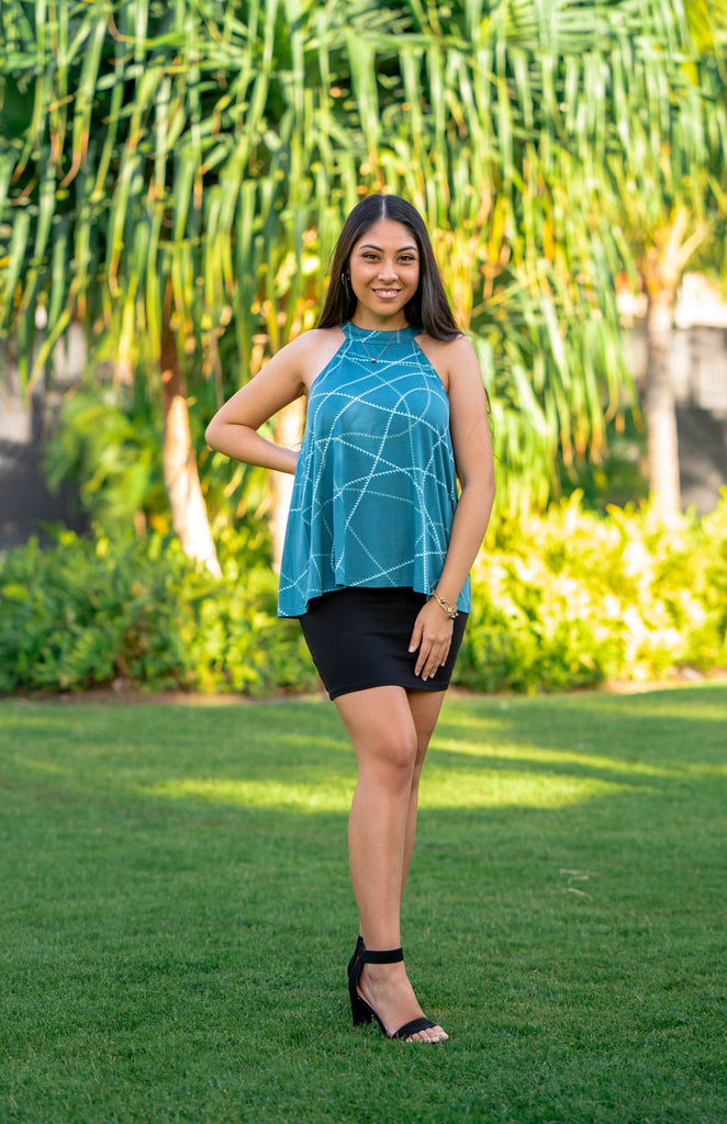 ʻIMI LOA WOMEN'S OCEAN A-LINE TOP Top Hawaii's Finest X-Small
