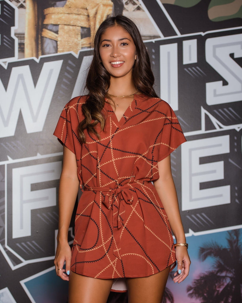 ʻIMI LOA WOMEN'S RUST OVERSIZED DRESS Dress Hawaii's Finest
