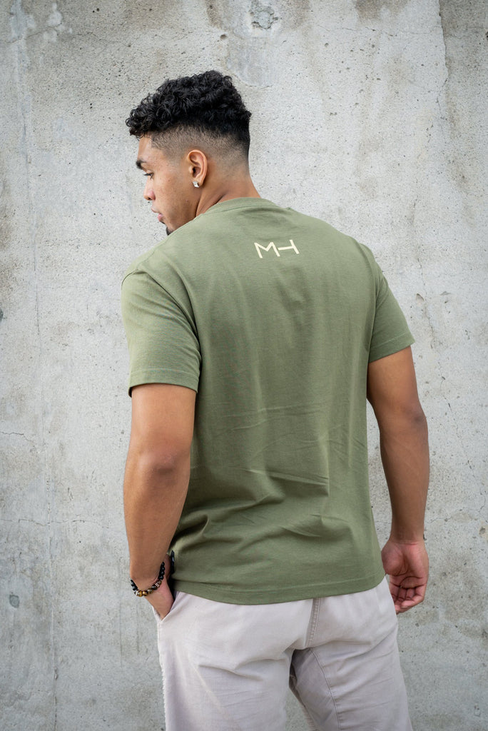 MAU OLIVE & BROWN CIRCLE T-SHIRT Shirts Mau Hawaii