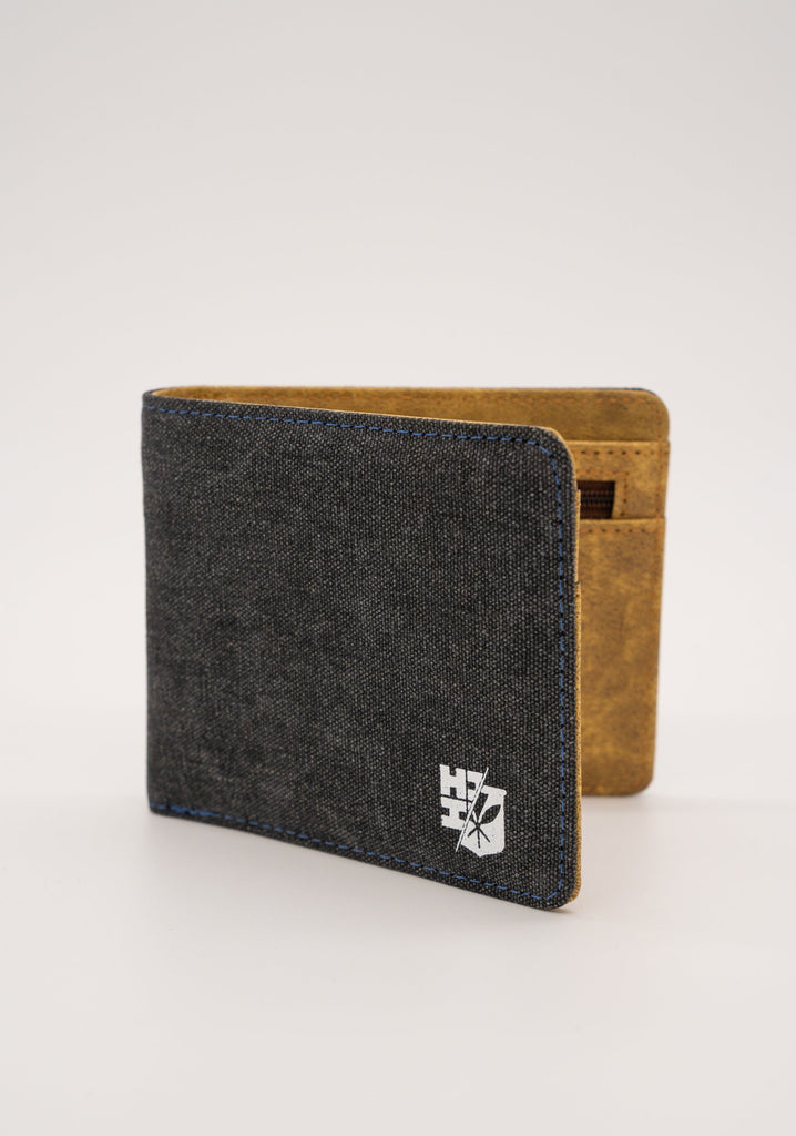 MEN'S BLACK SPLIT LOGO EMBLEM WALLET Utility Hawaii's Finest