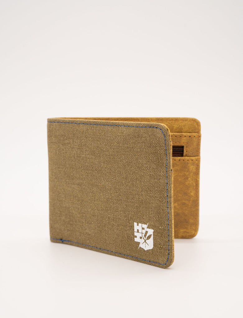 MEN'S GREEN SPLIT LOGO EMBLEM WALLET Utility Hawaii's Finest